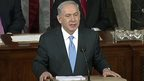 Israeli PM Benjamin Netanyahu addresses the US Congress
