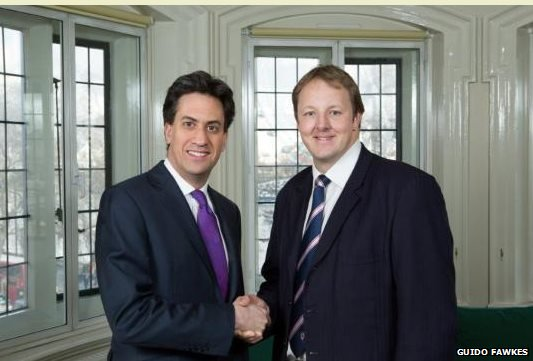 Ed Miliband and Toby Perkins