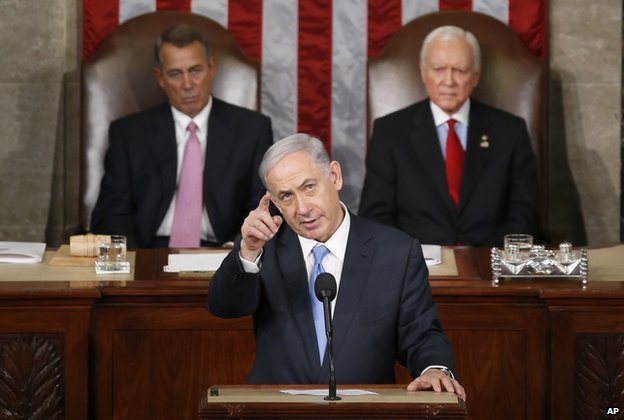 Netanyahu delivers his speech to Congress