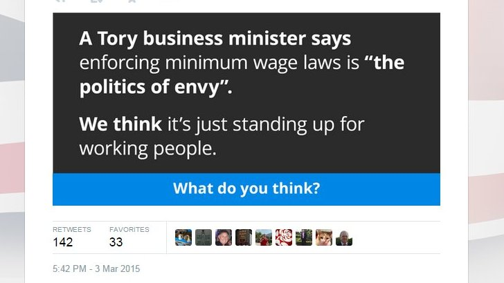 Labour promotion on Twitter