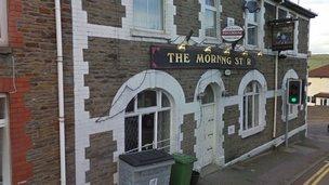 Former Morning Star public house, Pontypridd, RTC
