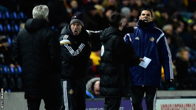 The incident occurred with Sunderland trailing Hull 1-0