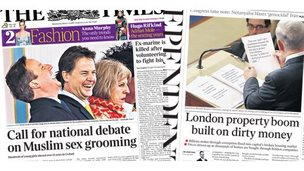 Times and Independent front