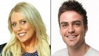 Australian radio station 2Day FM presenter Mel Greig (left) and Michael Christian (right)