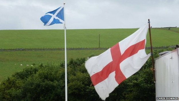 Scottish and English flag