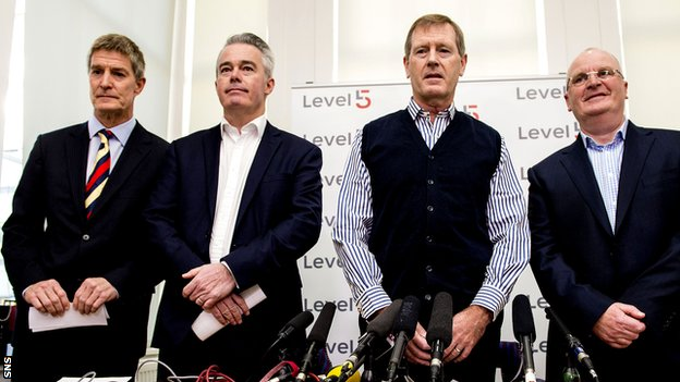 Richard Gough, Paul Murray, Dave King and John Gilligan