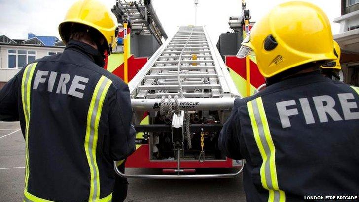 London Fire Brigade firefighters