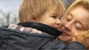 Maxine Hughes and her son Iori