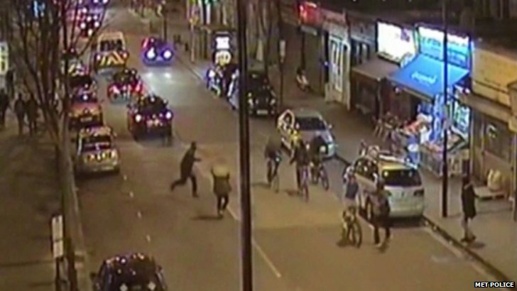 CCTV footage of Islington road