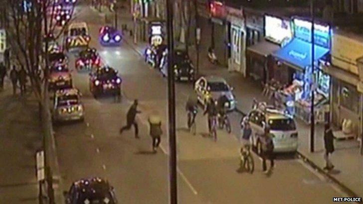 CCTV footage of Islington road