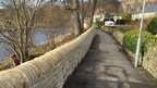 Improved flood wall at Stanhope