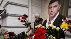 Flowers laid at ceremony in Moscow for Boris Nemtsov (3 March)