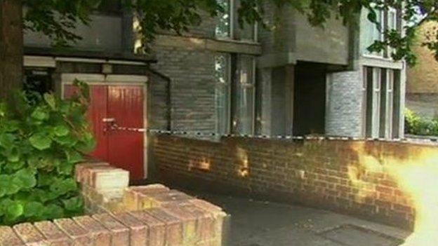 Police cordon in Broomfield Road