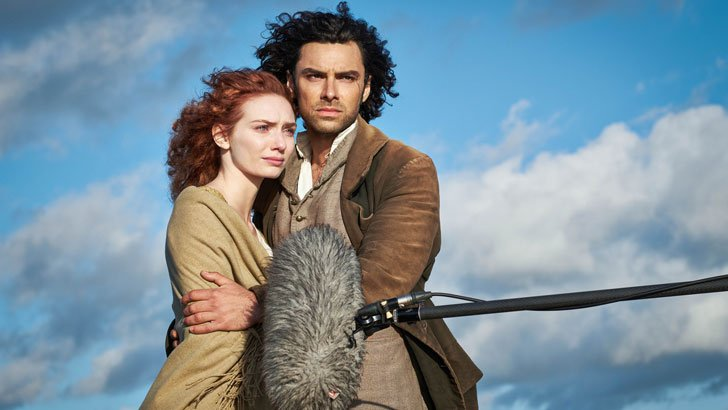 Eleanor Tomlinson and Aidan Turner in Poldark