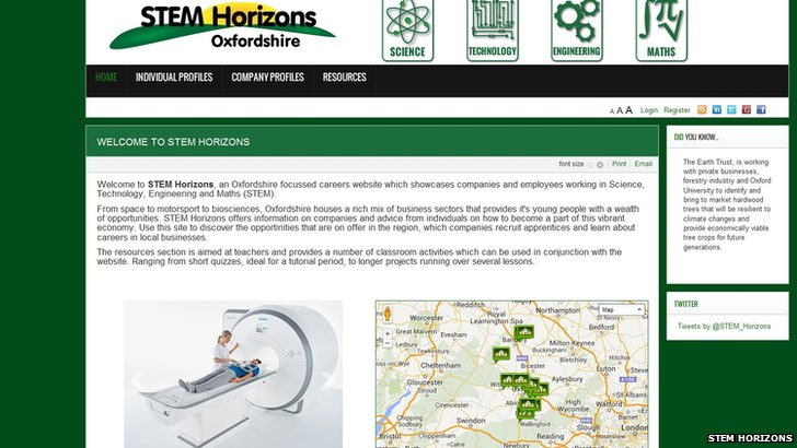 Stem Horizons website