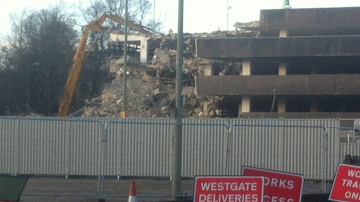 Westgate car park demolition