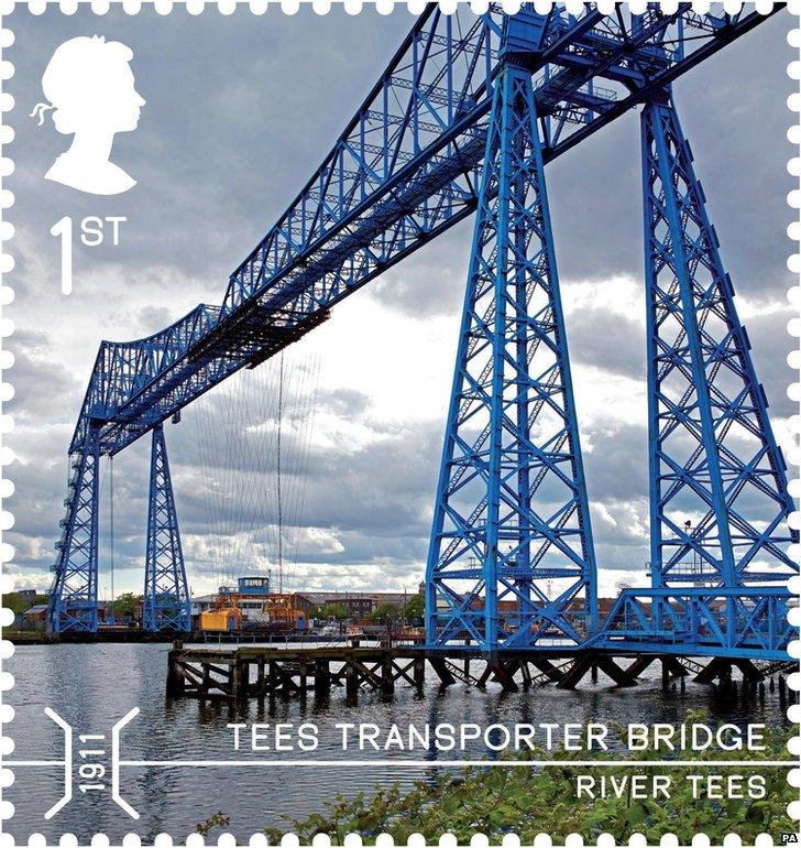 Middlesbrough's Transporter Bridge stamp