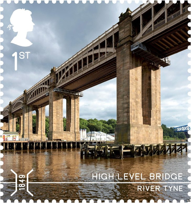 High Level Bridge on a stamp