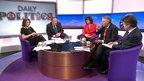 Jo Coburn, Andrew Neil, Claire Perry, Hilary Benn and Nick Watt