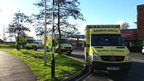 Ambulances outside Gloucestershire Royal Hospital