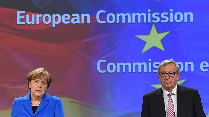 Jean-Claude Juncker and Angela Merkel