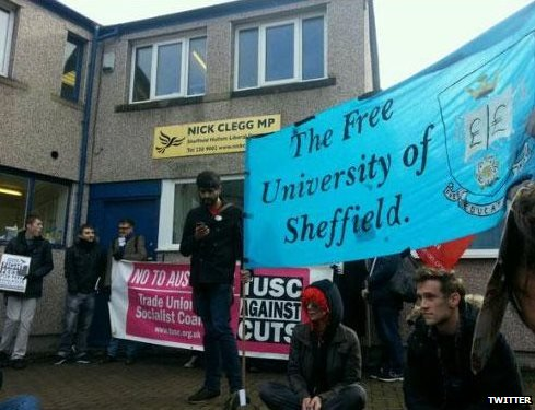 Sheffield Hallam protest