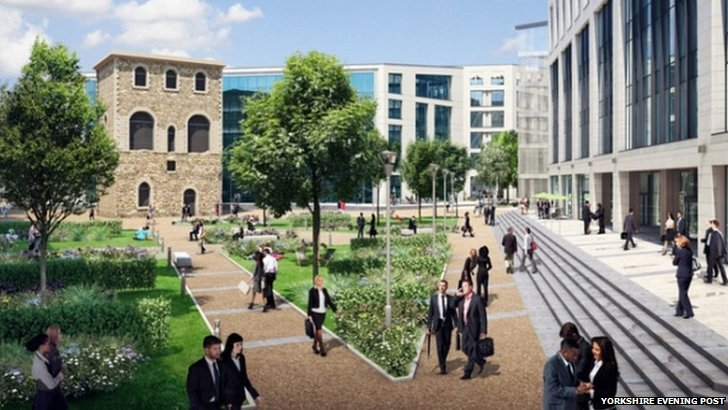 Artist impression of new square