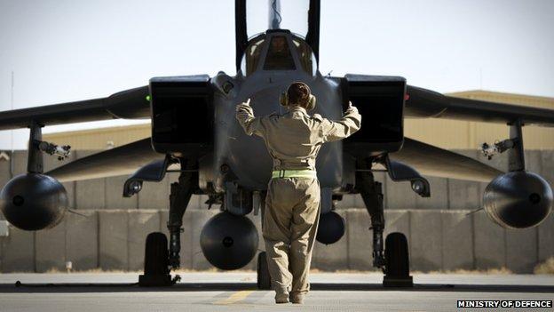 RAF Tornado GR4 in Afghanistan in November 2014
