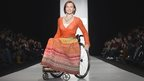 Wheelchair model on the runway