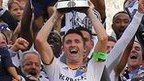Robbie Keane lifts the MLS Cup