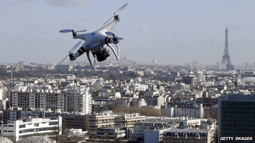 Drone in Paris