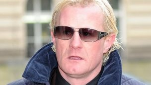 Colin Hendry arriving at Blackpool Magistrates' court