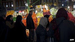 Fruit on sale at Tajrish market