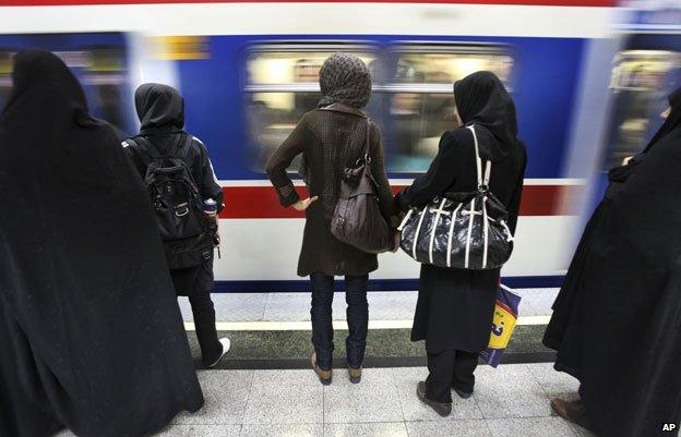 A Tehran metro station