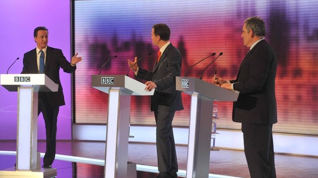 Image of 2010 election debate