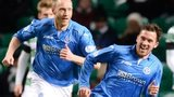 Danny Swanson celebrates scoring for St Johnstone