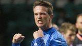 St Johnstone's Chris Millar celebrates at full time.