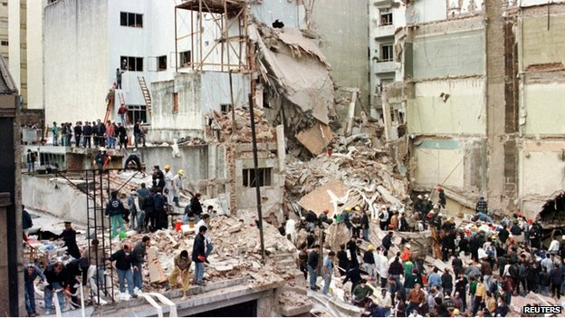 Attack against the Amia building in Buenos Aires, 18 July 1994