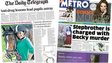 Daily Telegraph and Metro front pages - -05/03/15
