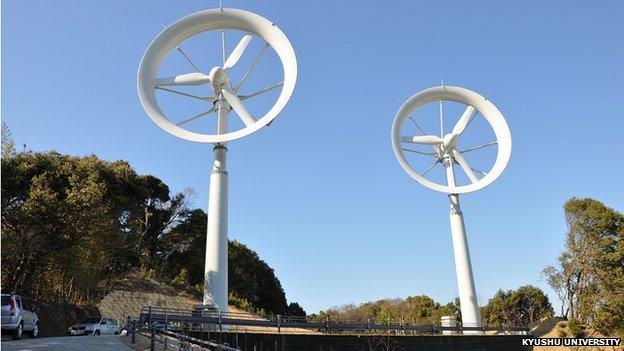 Wind lens turbines