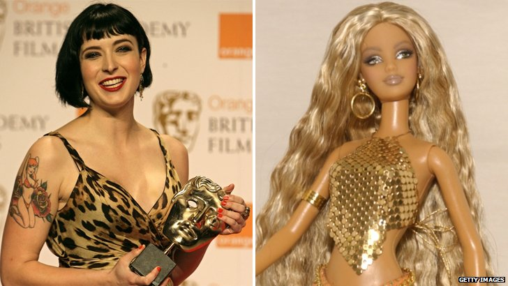 Diablo Cody and a Barbie doll