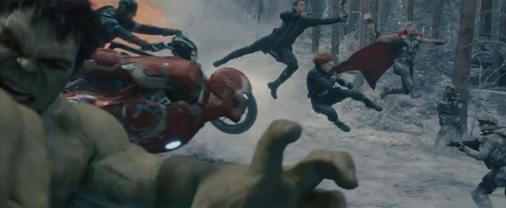 Frame from Avengers: Age of Ultron trailer