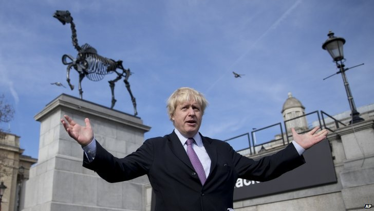 Boris Johnson at the Gift Horse unveiling