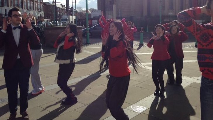 Flashmob practice