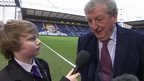 England boss Roy Hodgson talks to School Reporters