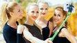 Beauty contestants use selfie stick
