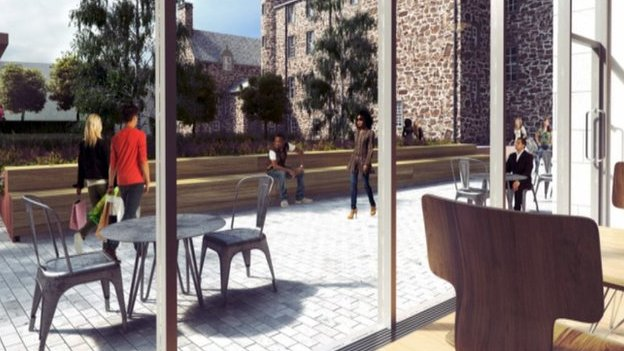 Artist's impression of Marischal Square development