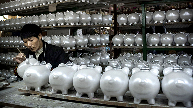 Piggy banks being made in China