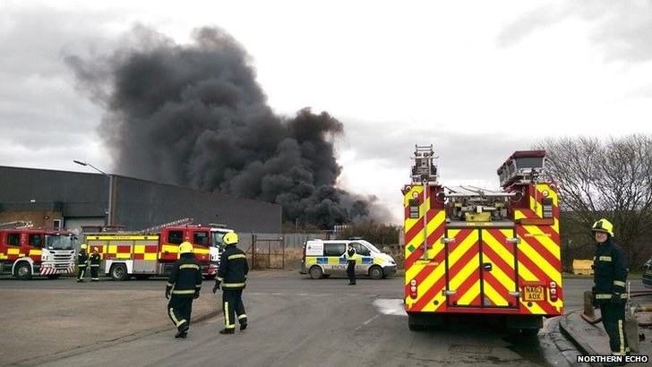 Eaglescliffe chemical fire