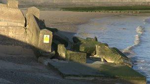 Lowestoft beach erosion